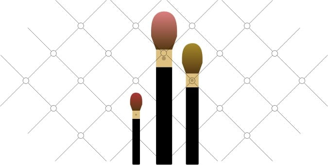 Makeup brushes illustration