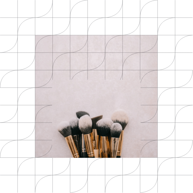 Makeup brushes picture