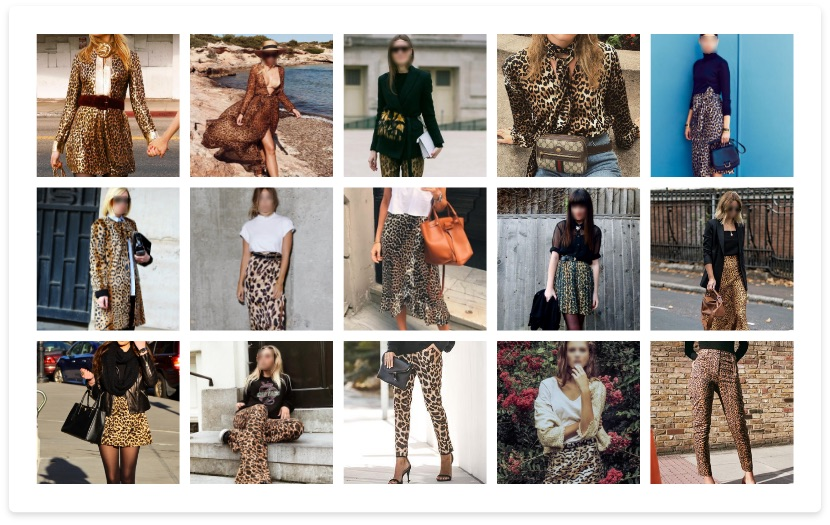 Social media pictures - women wearing leopard clothing