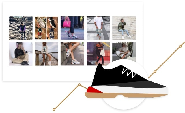 Sneakers pictures on social media
