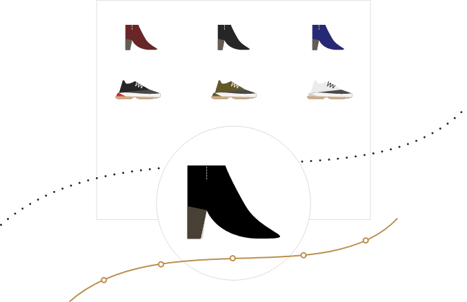 Shoes assortment monitoring