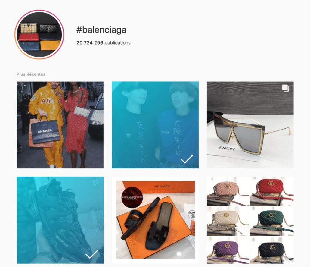 Hashtag pollution - Balenciaga brand