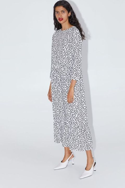 Zara Polka Dot Dress Trend 2019