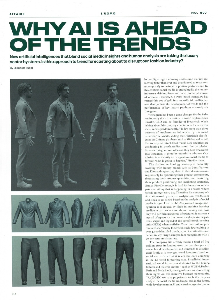 L'UOMO Vogue, February 2020, Why AI is ahead of the trends by Elisabeta Tudor