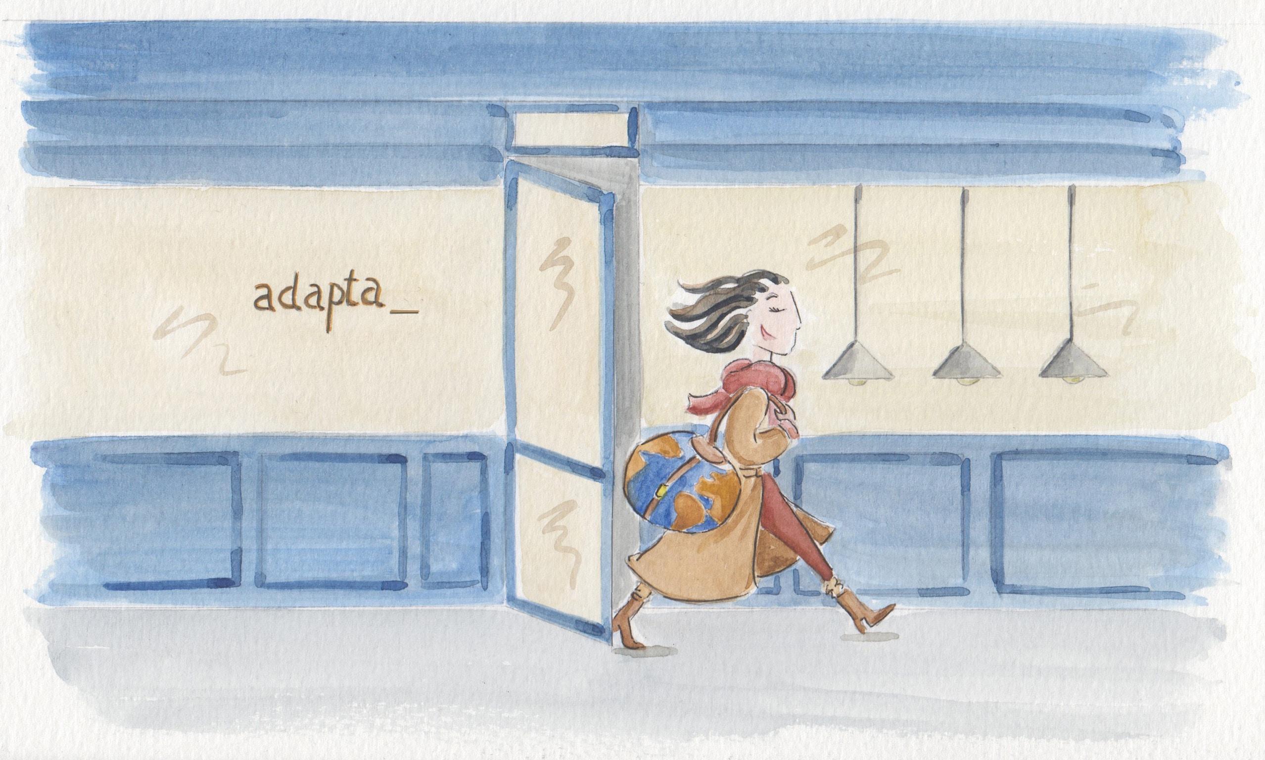 Aquarelle atelier Adapta (crédit _ Gaëlle Delahaye)
