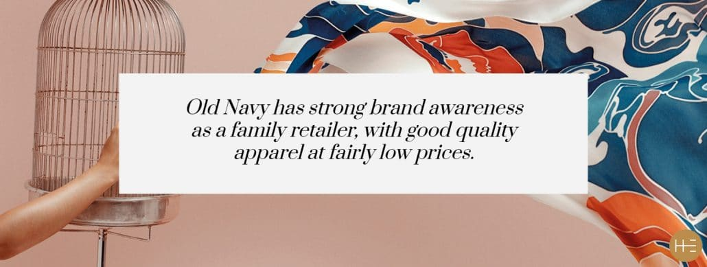 Brand awareness Old Navy