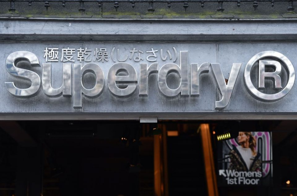 Superdry storefront in China