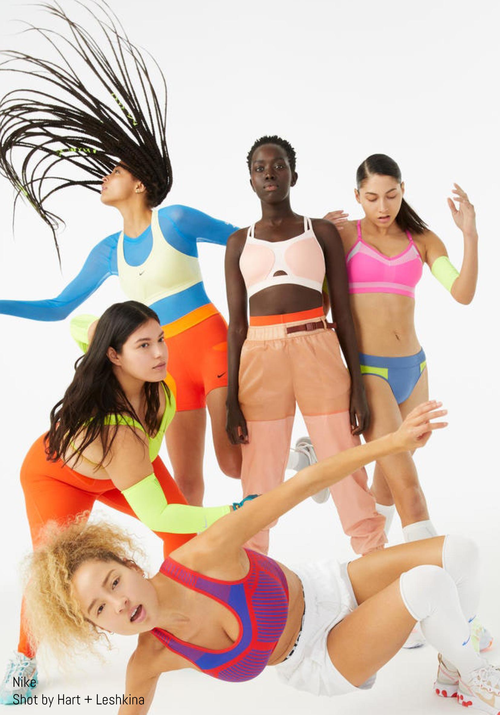 Models pose for Nike Shot by Hart + Leshkina