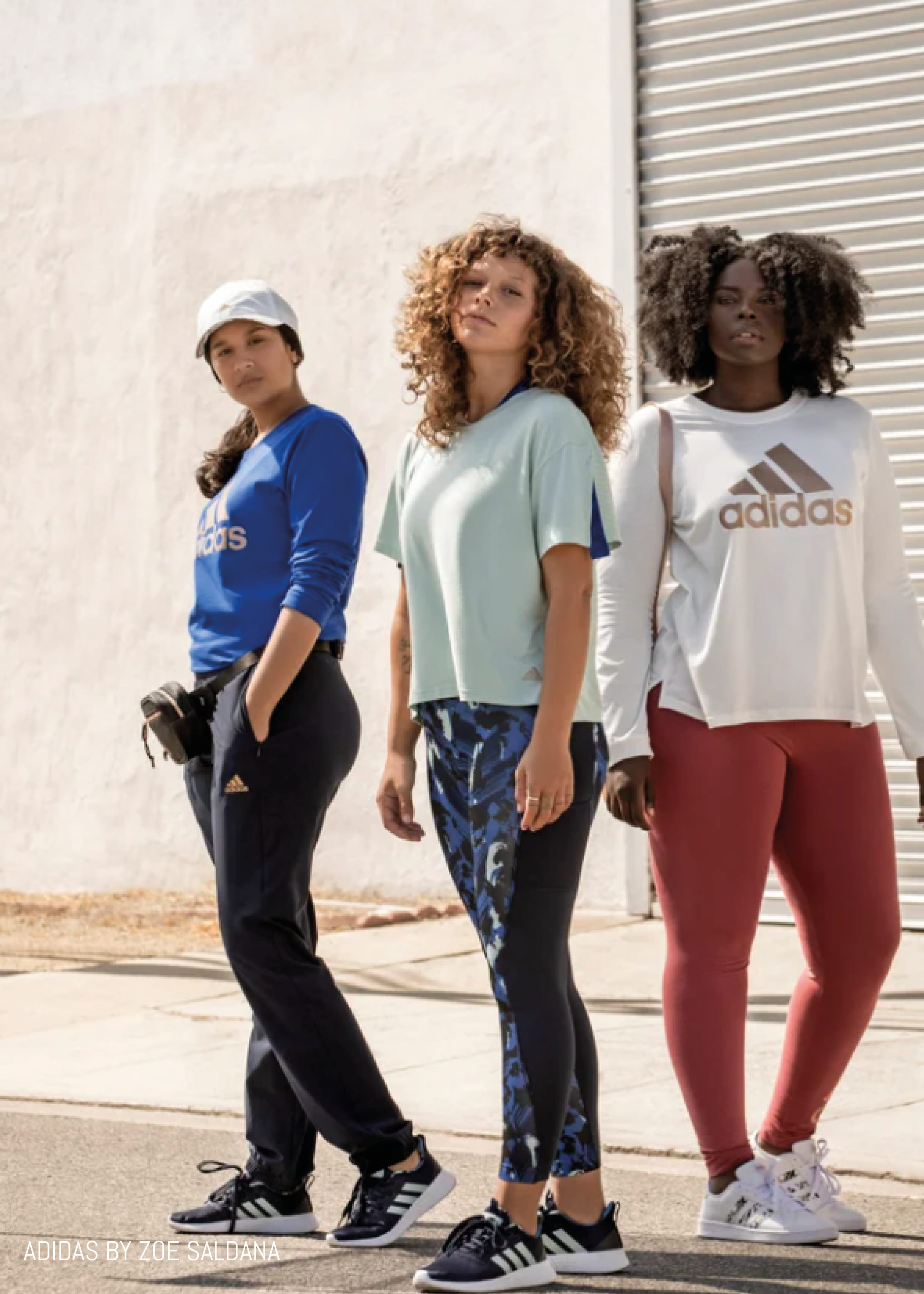 Kohls x Adidas Zoe Saldana Campaign