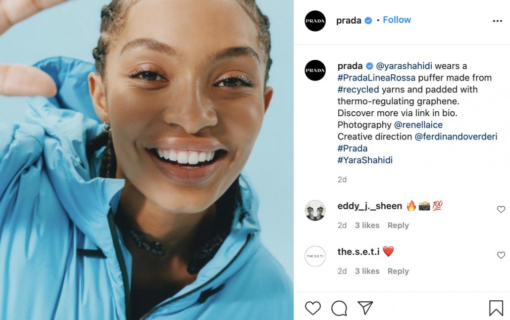 Prada Instagram campaign