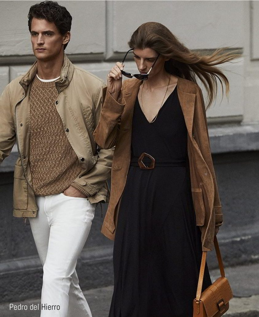Models shot in streetstyle for Pedro Del Hierro