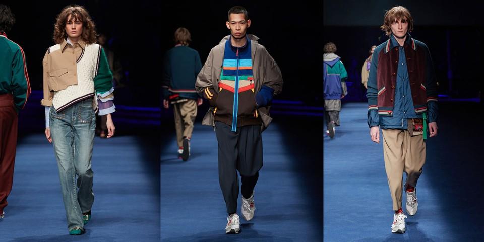 Models wear patchwork for Kolor FW21 collection