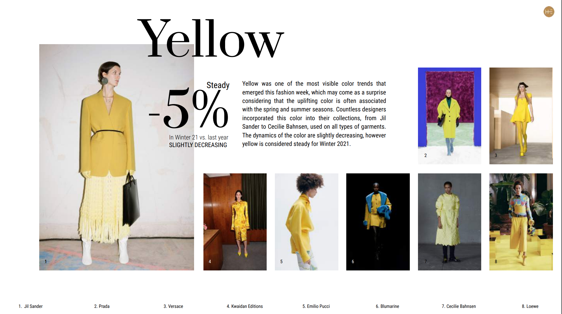 Fashion weeks report extract