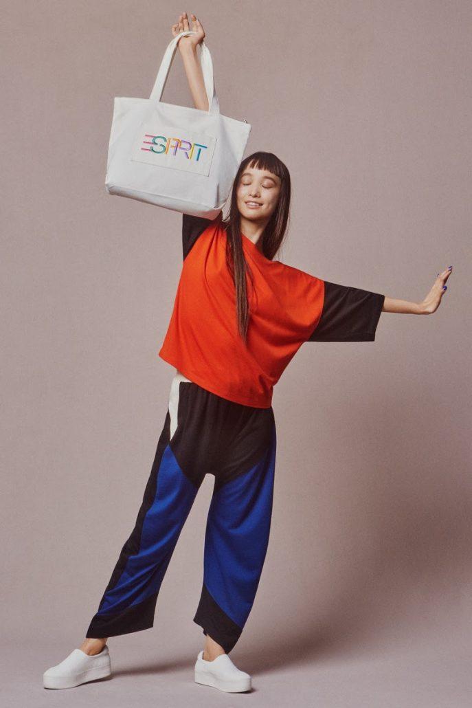 Model poses in Esprit loungewear