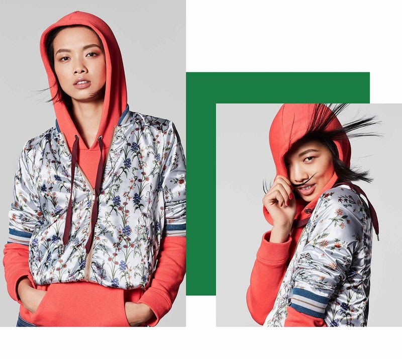Model poses for Esprit athleisure campaign