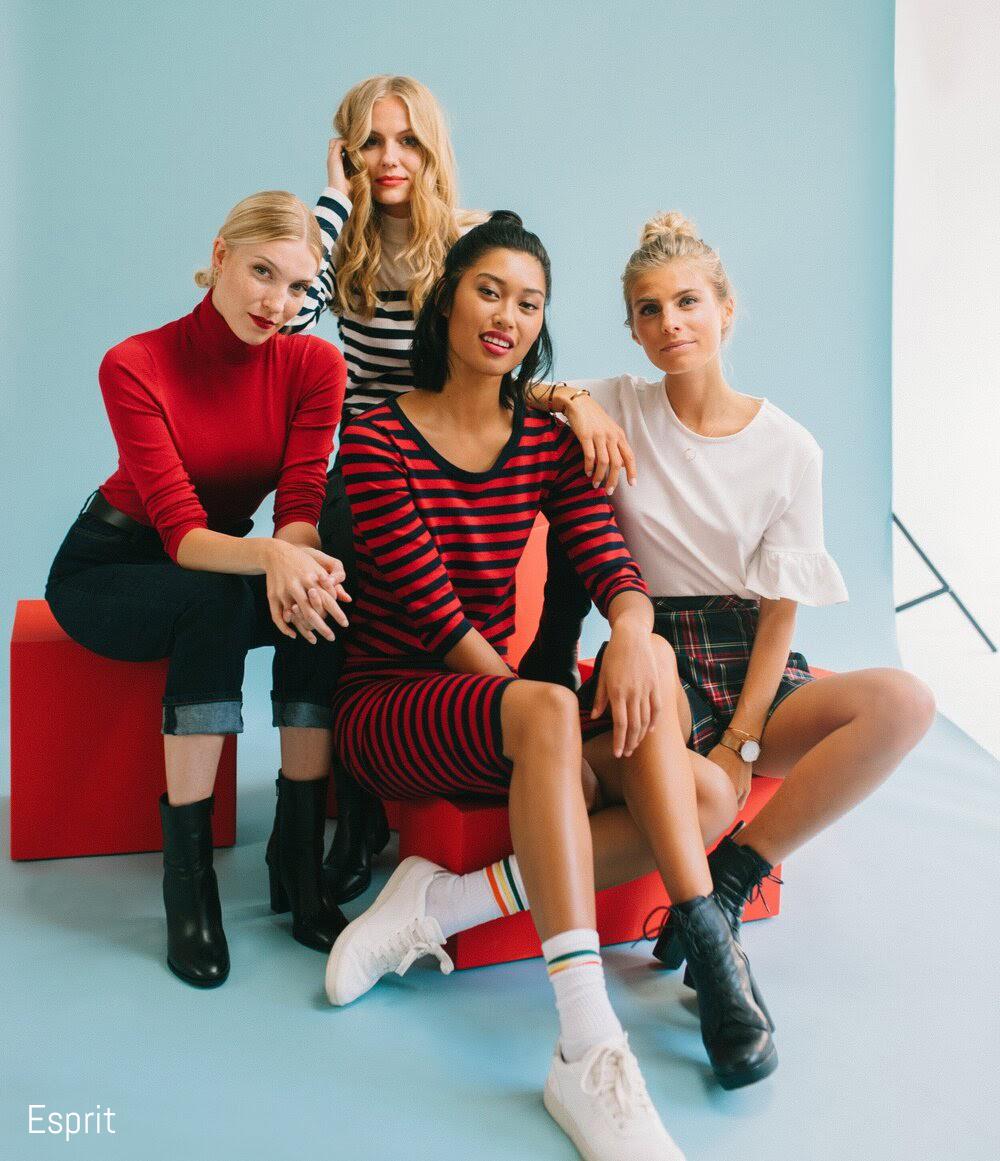 Models pose for Esprit Campaign