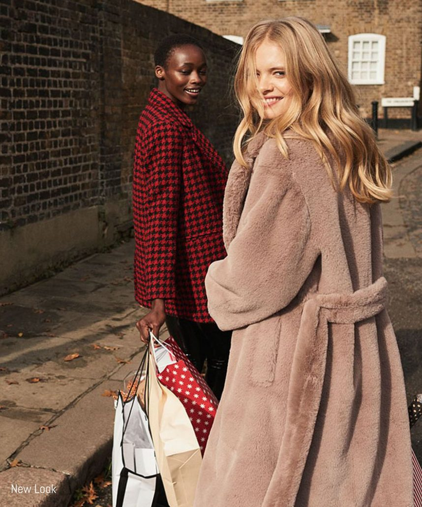 Models pose for New Look Winter campaign