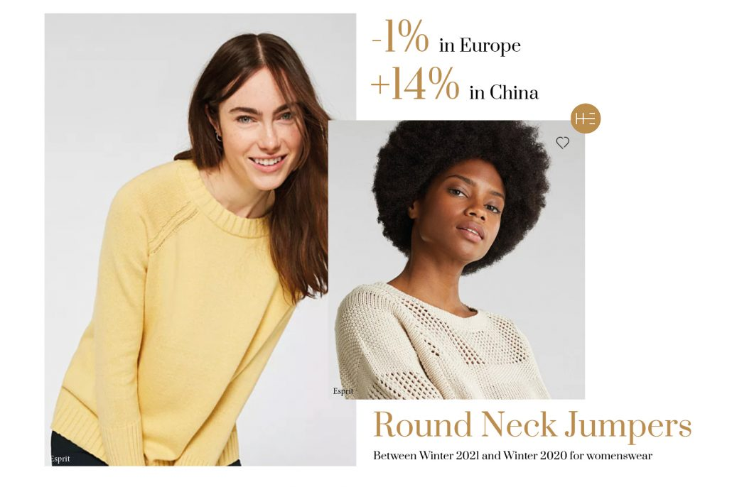 Heuritech forecast for round neck jumpers