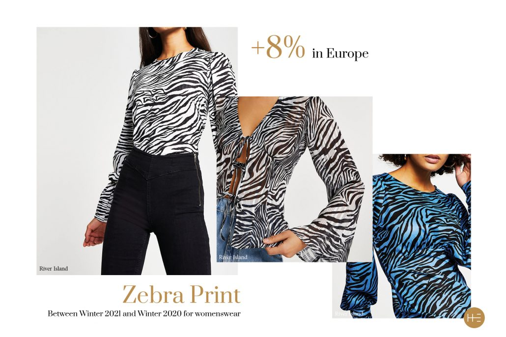 Heuritech forecasts the zebra print trend for Winter 2021 in Europe