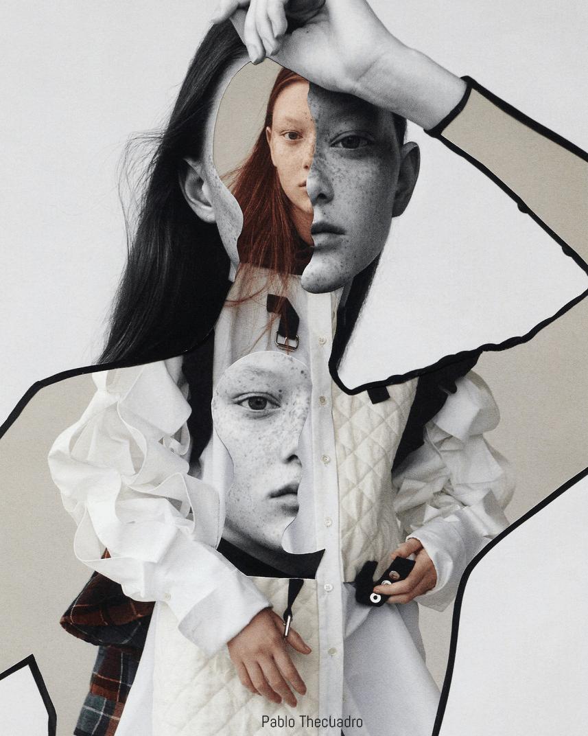 Editorial fashion collage
