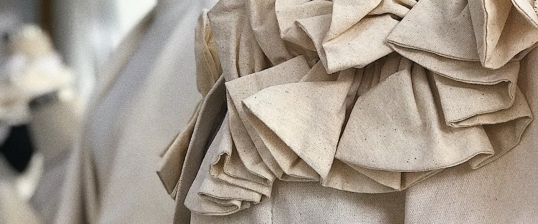 Fabric on a mannequin