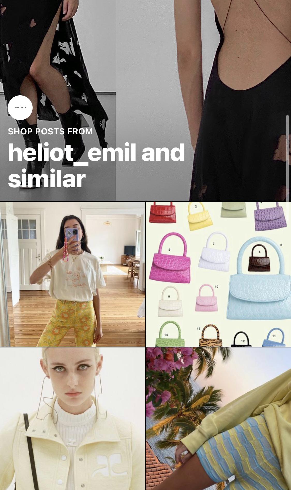 Instagram shopping page screenshot