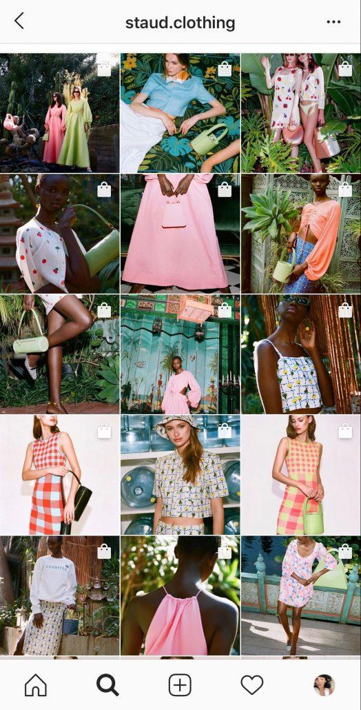 Staud clothing Instagram