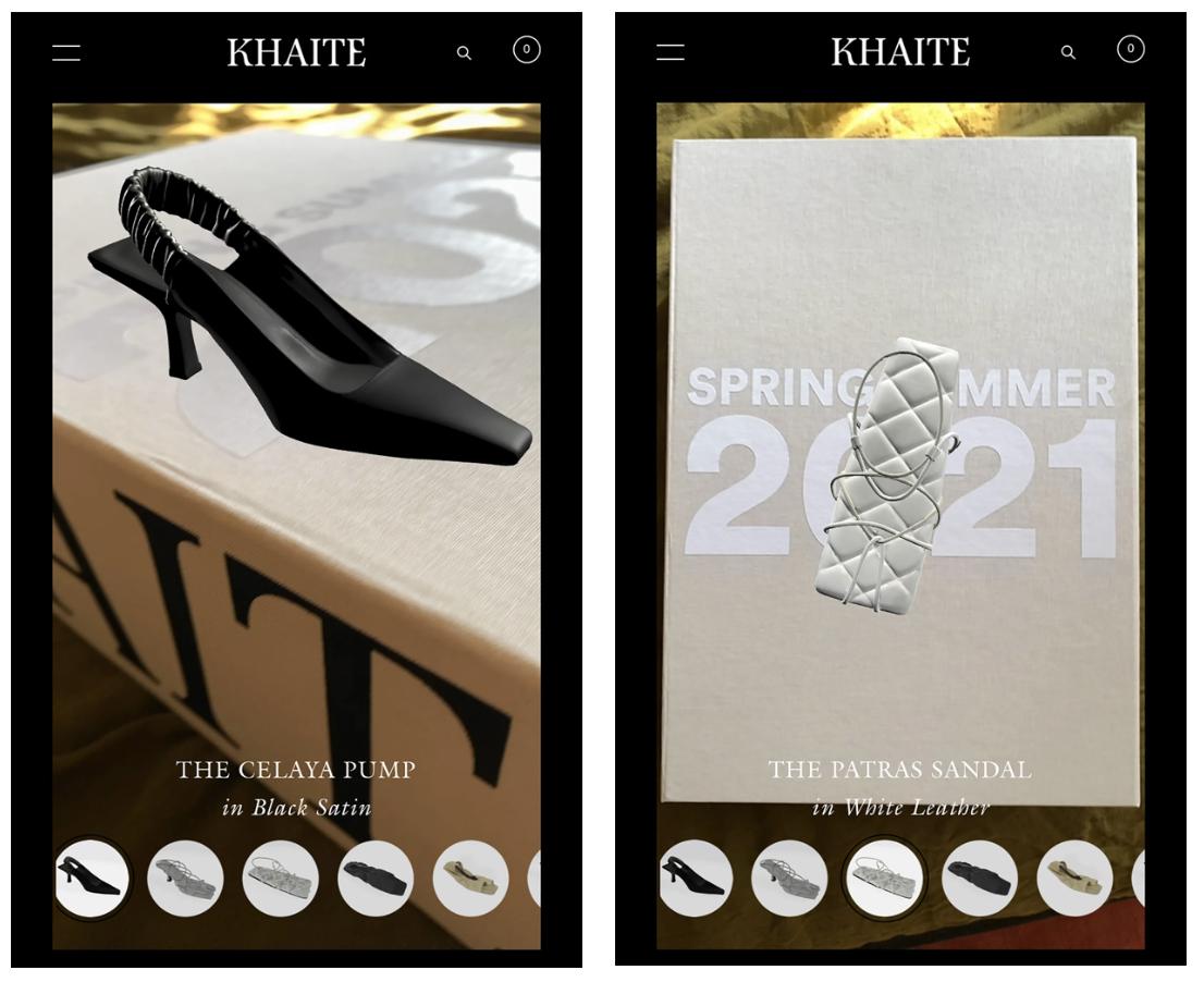 Khaite AR app for Spring 21 collection