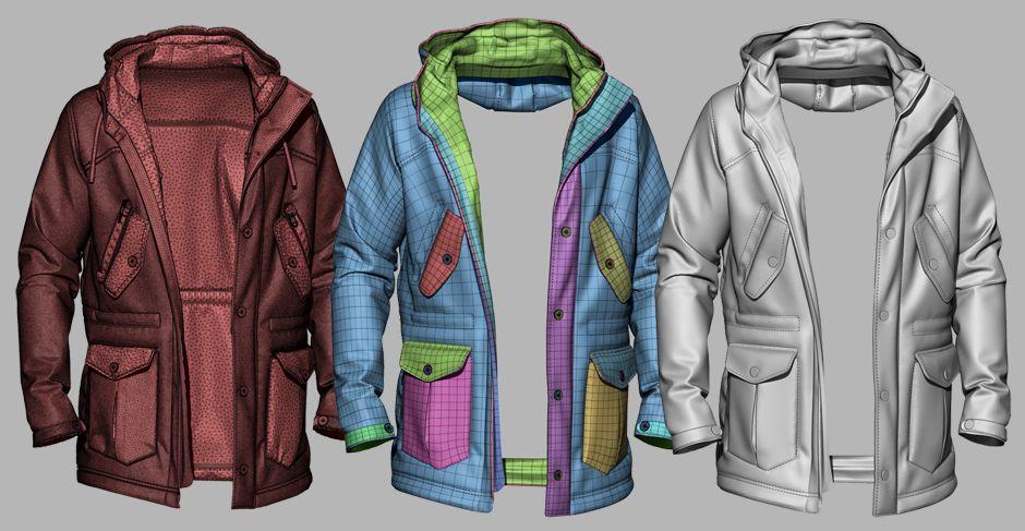 3D models of digital jackets