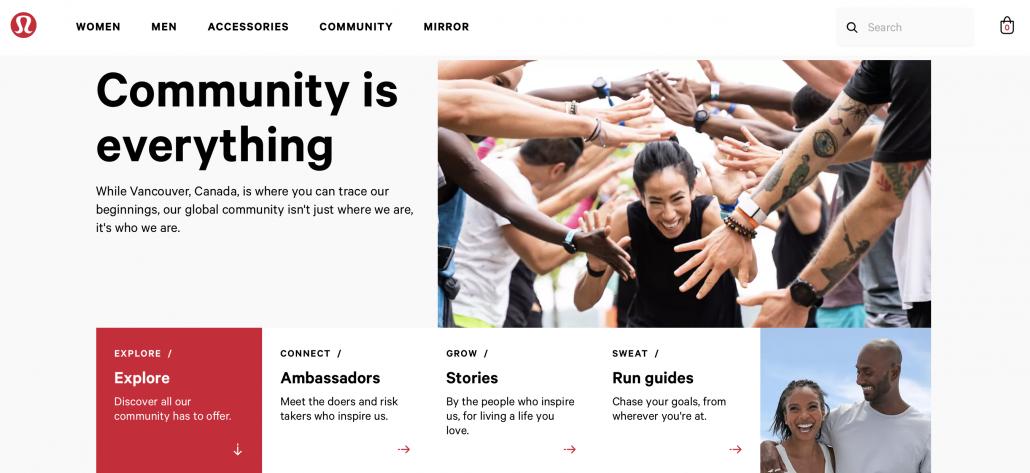 Lululemon community for consumers