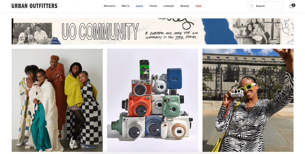 Urban Outfitters community for its consumers